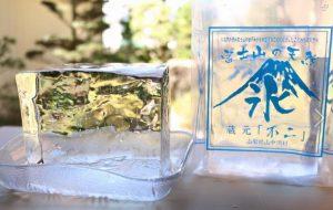 2017年夏分の富士山天然氷を確保いたしました♪